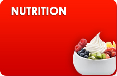Frozen yogurt nutrition section background